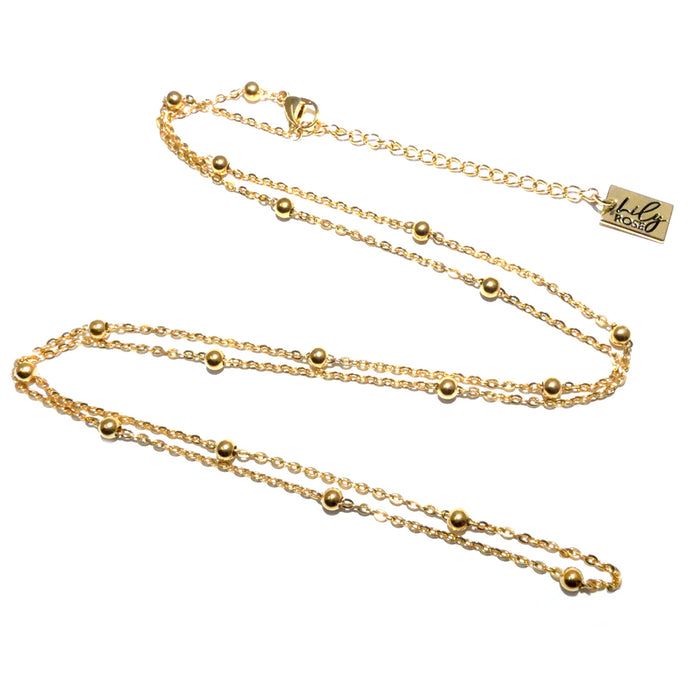 18K Gold Vermeil Satellite Bead Cable Chain