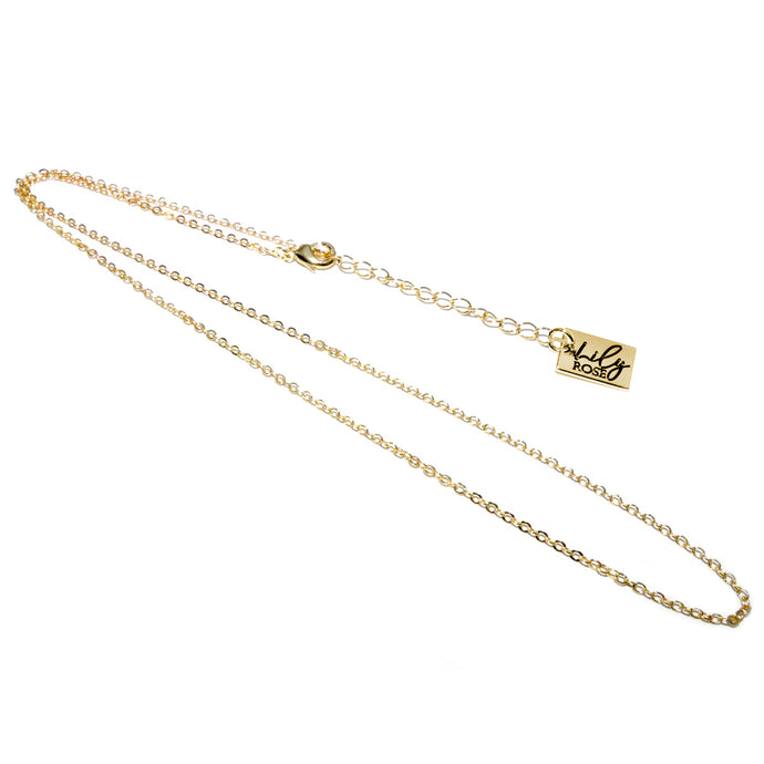 18k Gold Vermeil 1.5mm Oval Standard Chain Necklace