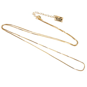 18k Gold Vermeil Super Smooth Box Chain