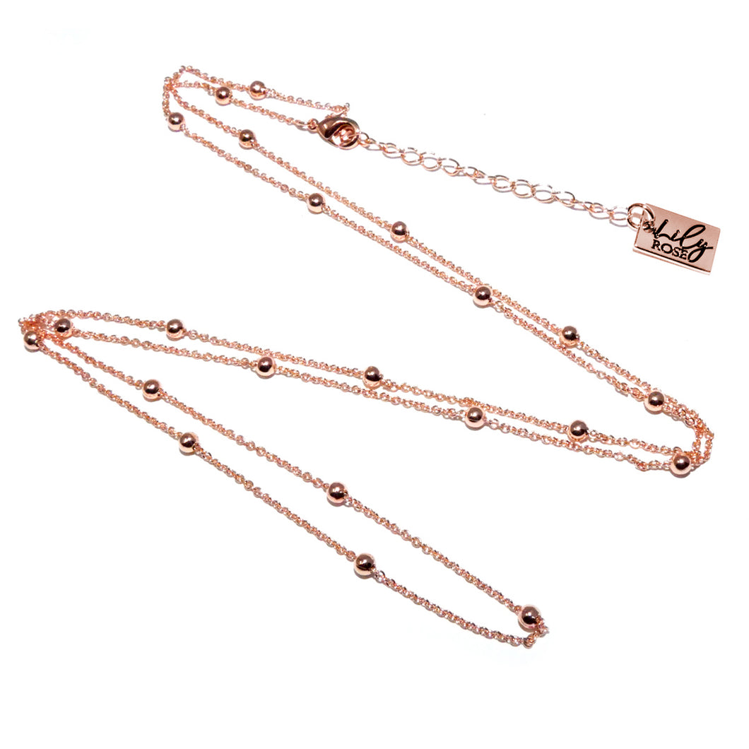 Rose Gold Vermeil Satellite Bead Cable Chain
