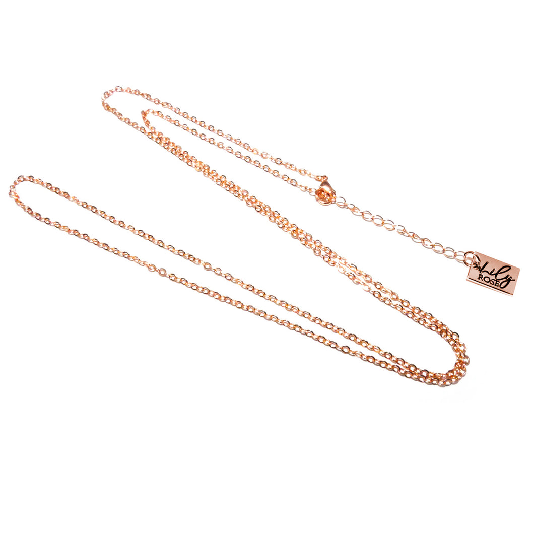 Rose Gold Vermeil Curb Simple & Shiny Link 2mm Cable Chain