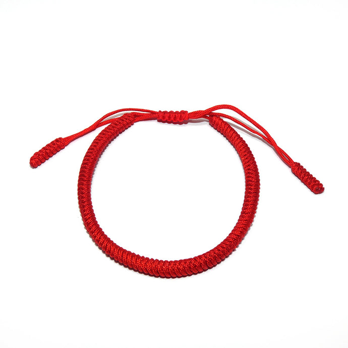 Original Red Tibetan Buddhist Monk Braided Knot Lucky Bracelet