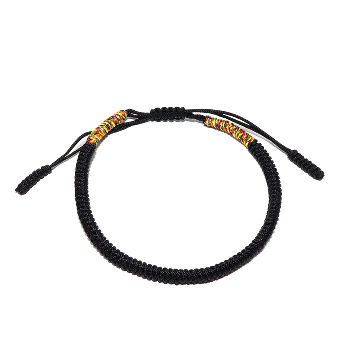 Original Black Tibetan Buddhist Monk Braided Knot Lucky Bracelet