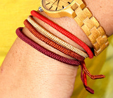 Load image into Gallery viewer, Original Red Tibetan Buddhist Monk Braided Knot Lucky Bracelet