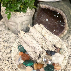 Smudge Three Bundles Organic California White Sage Sacred Native Herb Incense Spiritual Energy Cleansing Tool