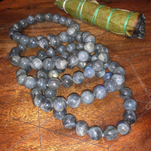 Load image into Gallery viewer, Labradorite Limited New Moon Power Protector Shaman Stone 8mm Stretch Bracelet