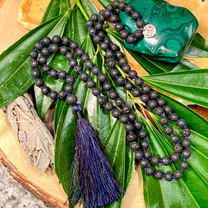 Lava Grounding & Security 108 Hand Knotted Mala Necklace Bracelet