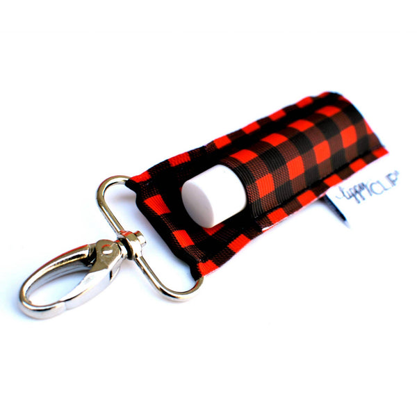 LippyClip® Lip Balm Holder - Buffalo Plaid LippyClip Lip Balm Holder or Keychain