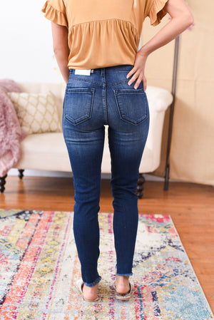 Aleise Distressed Waist Kancan Jeans