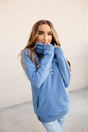 Single Hood Sweatshirt - Ocean