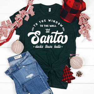 Santa Deck These Halls Shirt