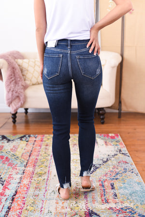 Monica High Rise Ankle Kancan Jeans
