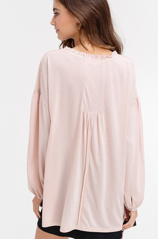 Whitley Keyhole Peasant Top