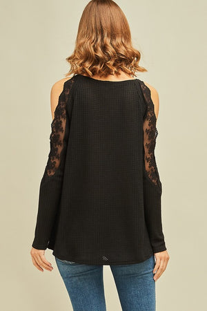 Faye Lacy Cold Shoulder Top