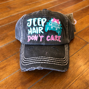 Jeep Hair Don't Care Baseball Hat