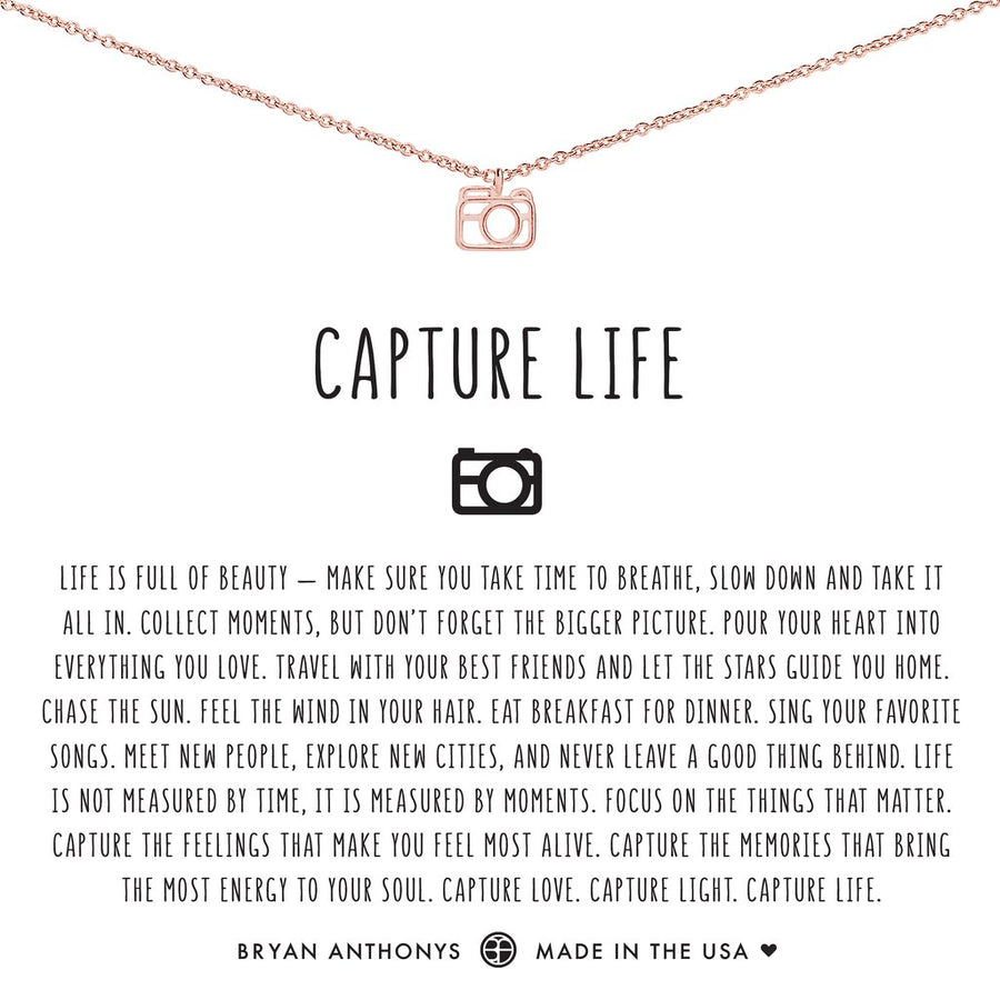 Capture Life Necklace by Bryan Anthonys