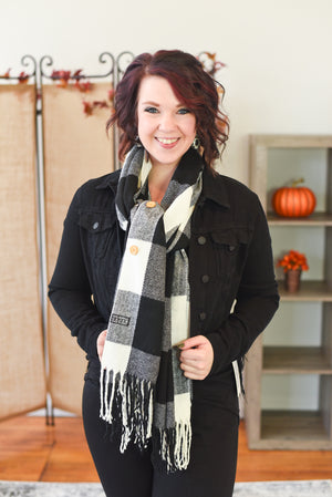 Button Shawl Scarf by Pretty Simple