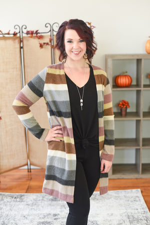Helene Color Block Cardigan