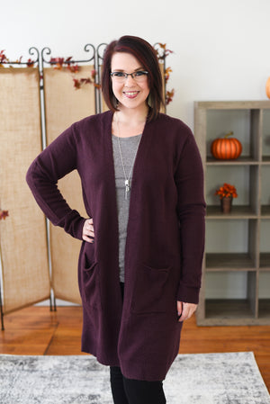 Matteah Cardigan - Deep Purple
