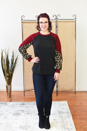 Nahla Animal Print Sweater