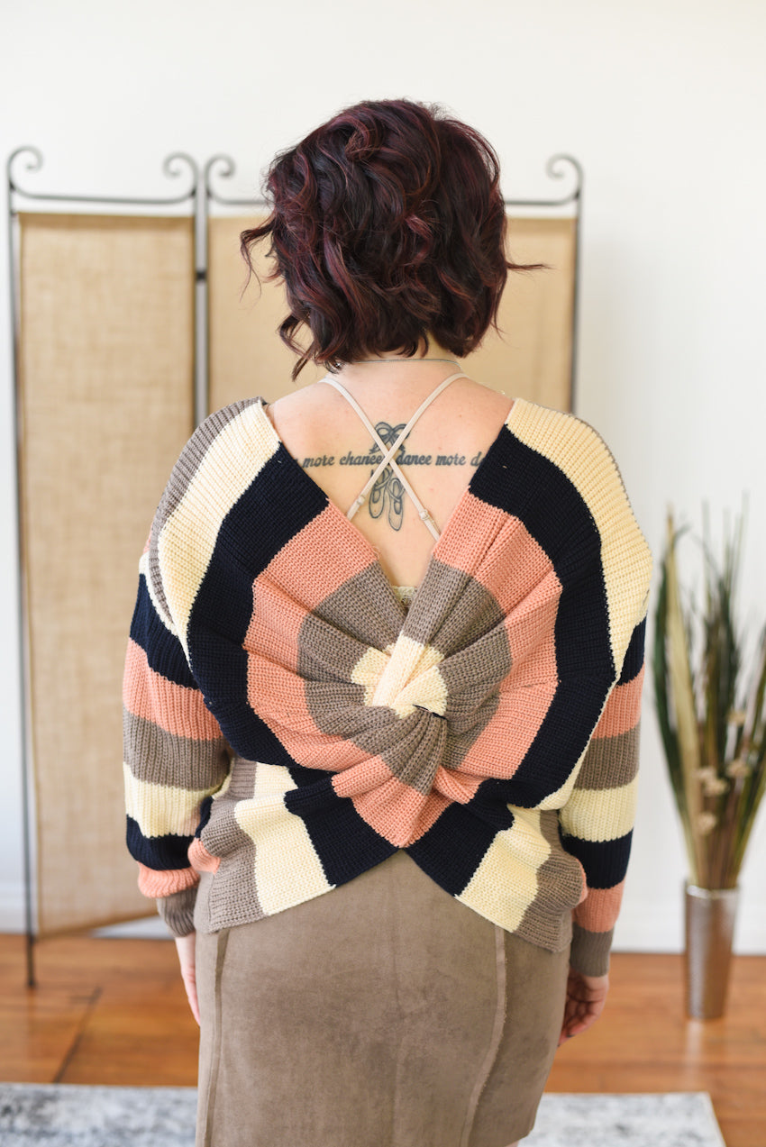 Honor Twist Back Sweater
