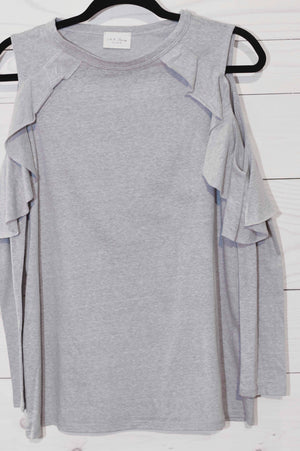 Hilary Long Sleeve Cold Shoulder Shirt