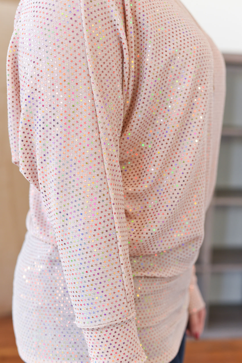 Nova Sparkle Top - Blush
