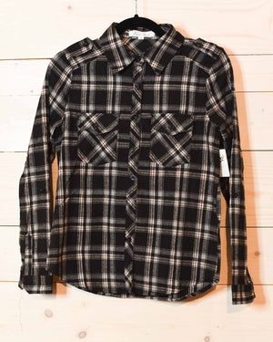 Plaid Bliss Shirt - B&W