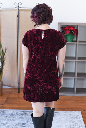Margaux Crushed Velvet Dress