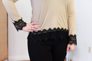 Alma Lace Trim Top