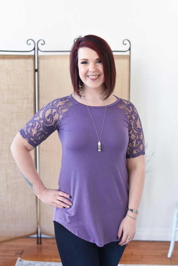 Everyday Lace Top - Lilac