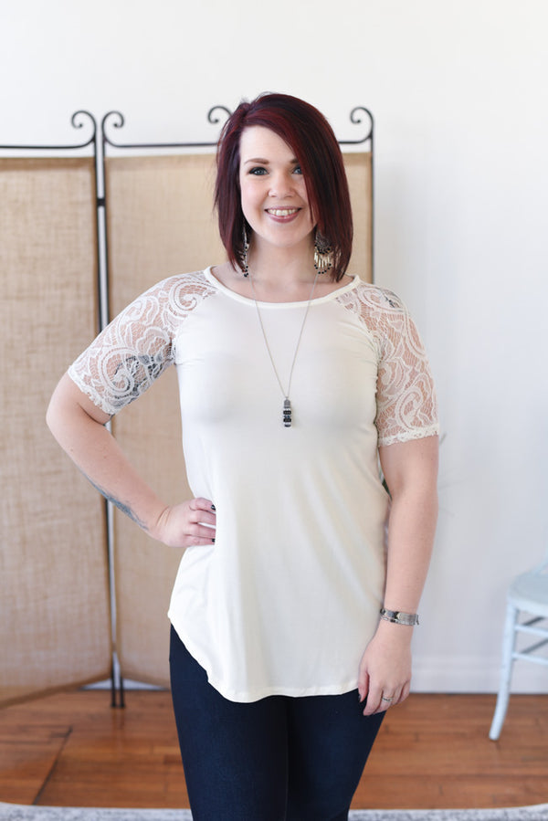Everyday Lace Top - Ivory