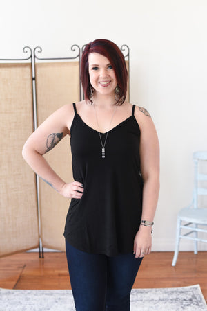 Everyday Reversible Flowy Cami - Black