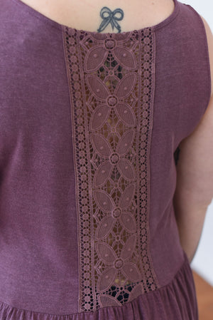 Jayde Sleeveless Tunic Top - Plum