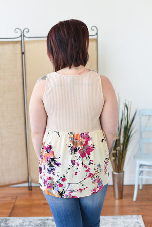 Bryn Floral Swing Top
