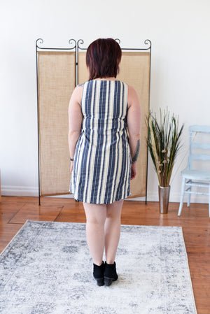 Kimana Striped Dress - Denim
