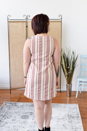 Kimana Striped Dress - Rose