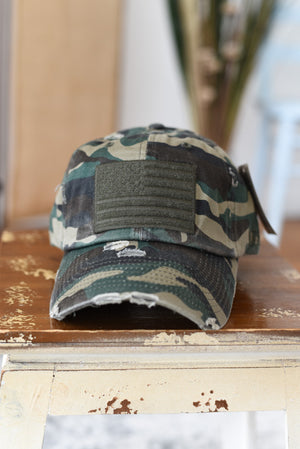 Camouflage American Flag Hat