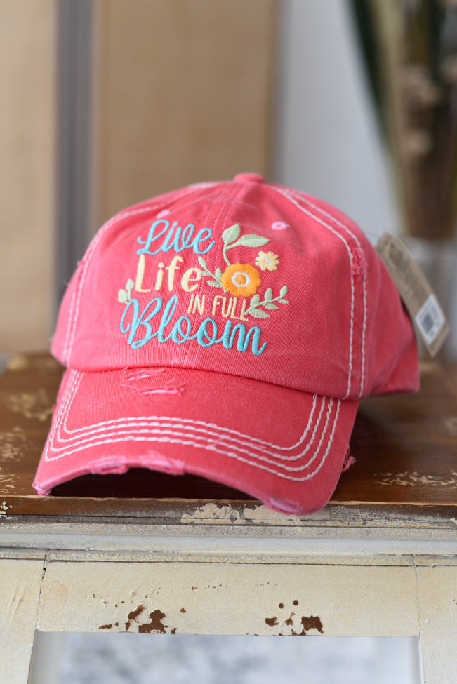 Live Life in Full Bloom Hat