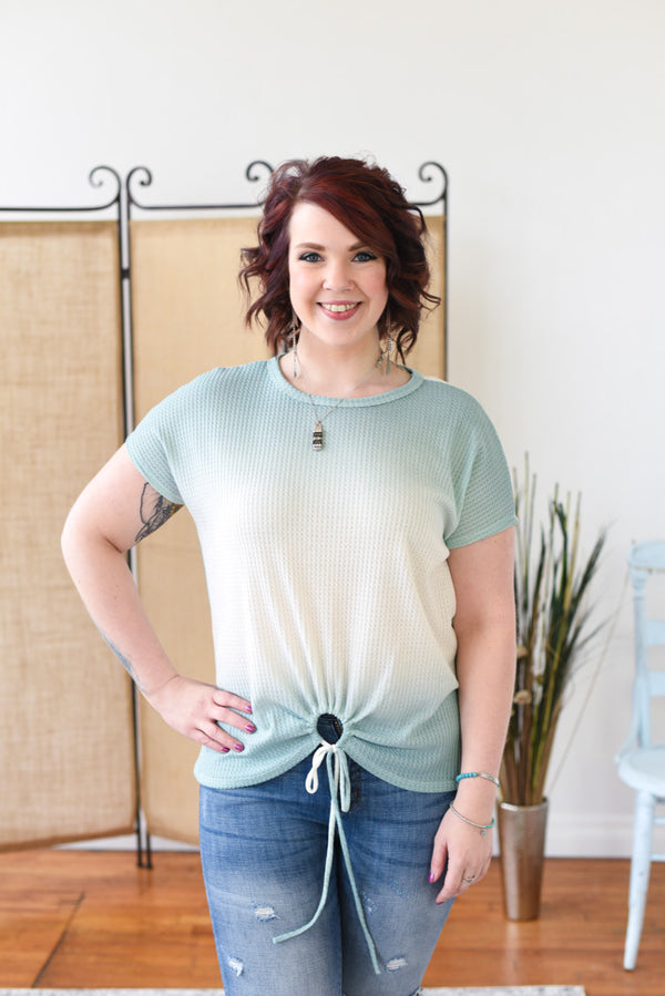 Palmer Ombre Top - Mint