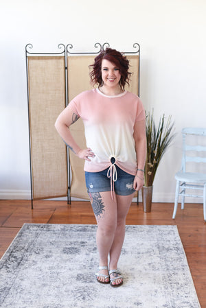 Palmer Ombre Top - Rose Pink