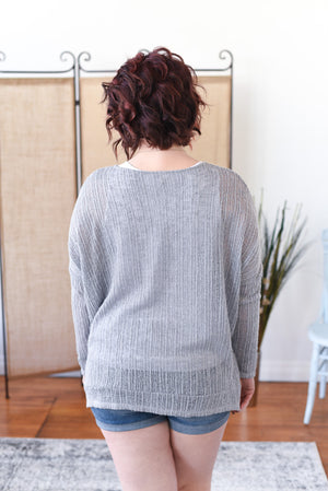 Gia Breezy Spring Sweater - Gray
