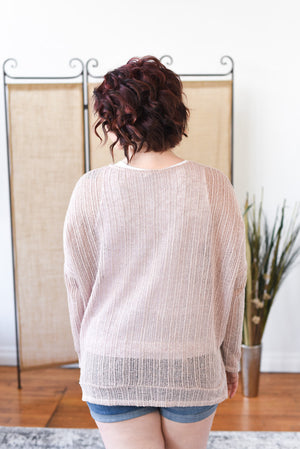 Gia Breezy Spring Sweater - Dusty Rose