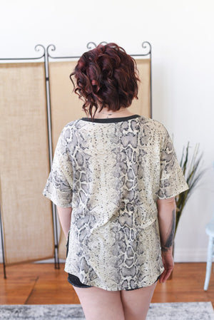 Weekend Chic Snake Print Top