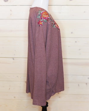 Marsala Knit Top