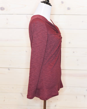 Twist of Fate Maroon Top