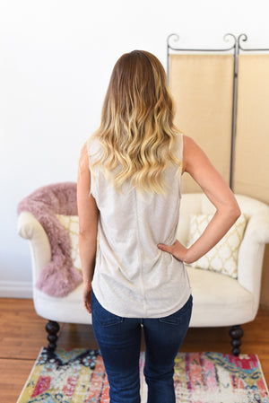 Jane Button Front Tank Top