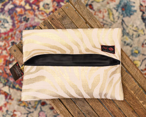 Makeup Junkie Bag - Large Safari Pearl