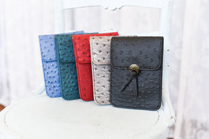 Ostrich Crossbody Purse