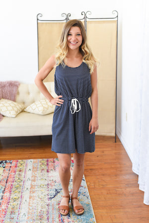 Lincoln Striped Sleeveless Dress